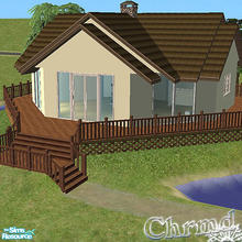 Sims 2 — Summer Cabin by Chrmd — Ideal starter hone. Lot size: 3x3. Ideal for summer or winter vacations or as a main