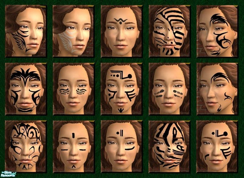Facial Tribal Tattoos - Photo Gallery-3598