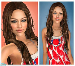 Sims 2 — Miley Cyrus by Jirka — The young Disney star, Miley Cyrus. She is known for singing aswell as playing Hannah