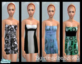 Sims 2 — America-Jane Set by Angelbabe1983 — Here is an Everyday Set for your Female Adult Sims. 4 dresses all in a