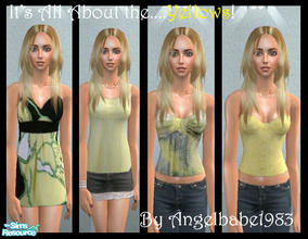 "Sims 2 — It\'s All About the .....Yellows! by Angelbabe1983 — Here is my next set in my ""It\'s All About\"""