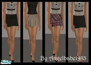 Sims 2 — Arielle-Samantha Set by Angelbabe1983 — Here is an Everyday Set for your Female Teen Sims. 4 skirts based on a