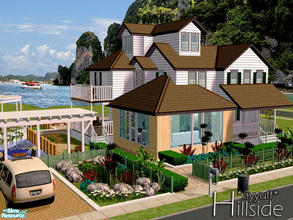 Sims 2 — Hillside *Furnished* by ayyuff — 3x3 fully furnished and decorated house with,1 kitchen,1 livingroom,1 study,3