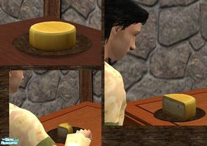 Sims 2 — Medieval Meal - Cheese with DR Dinnerware by TheNinthWave — Included is Cheese found in your sim\'s fridge as