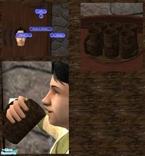Sims 2 — Medieval Drinks by TheNinthWave — Included is Ale, Grog, and Mead. All of the textures and meshes are the same.