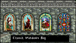 Sims 3 — CHURCH WINDOW BIG by abuk0 — first of 3 medieval church glasswindow set........
