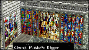 Sims 3 — CHURCH WINDOW BIGGER by abuk0 — second set of 3 medieval church glasswindows........