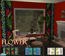Sims 2 — Flower by ayyuff — 6 wallpapers...Cost:2