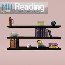 Sims 3 — MR Bookshelf by D3VV — Part of the MR Reading Corner set, relax and start reading. Created by D3VV @ TSR