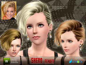 Sims 3 — Newsea Shero Female Hairstyle by newsea — This hairstyle is for female. Works for all ages. All morph states