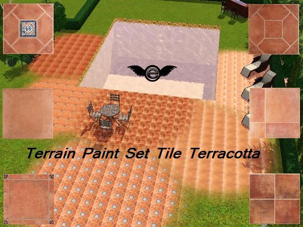 Engelchen1202 39 s terrain paint set tile terracotta 1 6 - Terracotta exterior paint set ...