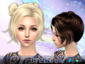 Sims 2 — NewSea SIMS2Hair YU079f ChineseGirl by newsea — A short stylish updo in various colors.