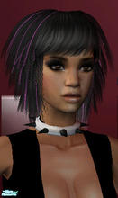 Sims 2 — Spikey collar white/black by sskath — collar in white and black. mesh required
