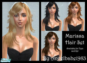 Sims 2 — Marissa Hair Set by Angelbabe1983 — Here is another Hair Set based on a wonderful mesh by Helga. Comes in 4