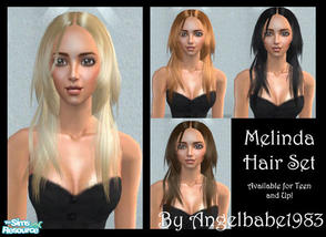 Sims 2 — Melinda Hair Set by Angelbabe1983 — Here is my next Hair Set based on another of Helga\'s wonderful meshes.