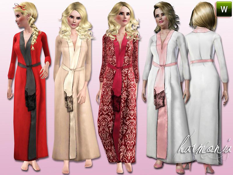 Sims 4 cc satin robe