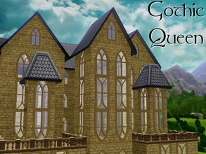 Sims 3 — Gothic Queen by lilliebou — Hello ! This is a set of 4 gothic windows. Every window has 2 recolorable channels