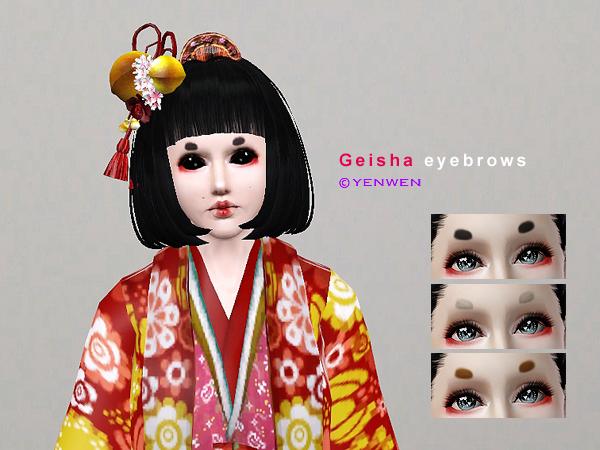 Yenwenz S Geisha Eyebrows