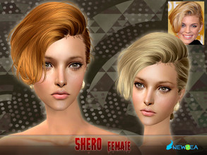 Sims 2 — NewSea SIMS2 Hair J055f Shero by newsea — A short stylish hairstyle in various colors.