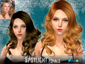 Sims 2 — NewSea SIMS2 Hair J056f SpotLight by newsea — A long curly hairstyle in various colors.