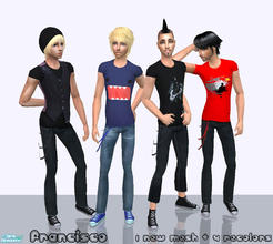 Sims 2 — Casual Guys - Collection 07 for Teen Males by francisssko — 1 new mesh (included) + 4 recolors! Enjoy ^_^