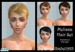 Sims 2 — Melissa Hair Set by Angelbabe1983 — Here is another Hair Set based on another of Peggy\'s wonderful meshes.