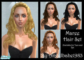 Sims 2 — Maree Hair Set by Angelbabe1983 — Here is another Hair Set based on one of Helga\'s wonderful meshes. Comes in 4