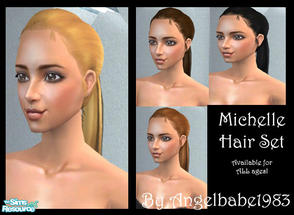 Sims 2 — Michelle Hair Set by Angelbabe1983 — Here is my next Hair Set. Based on a wonderful mesh by Peggy. It comes in 4
