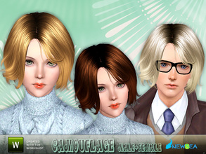 Sims 3 — Newsea Camouflage Female+Male Hairstyle by newsea — This hairstyle is for female and male. Works for all ages.