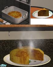 Sims 2 — Cornbread by TheNinthWave — This is a new meal of Cornbread. Open for Business is required, as well as high