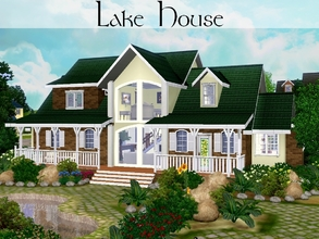 Sims 3 — Lake House [Set] by lilliebou — Hi ! This small set has three items : 1. One window (2 tiles wide, 2 recolorable