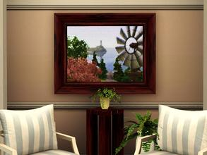 Sims 3 — Sunset Valley Canvas by spitzmagic — Beautiful Sunset Valley painting canvas style