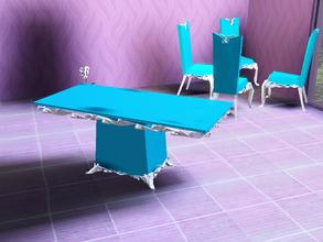 Sims 3 — Light blue dining table by Bebana2 — Light blue dining table