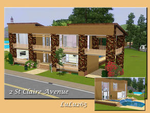 Sims 3 — 2 St Claire Street  by Lulu265 — Large Spacious modern home with pool. An ideal family home with 3 bedrooms and