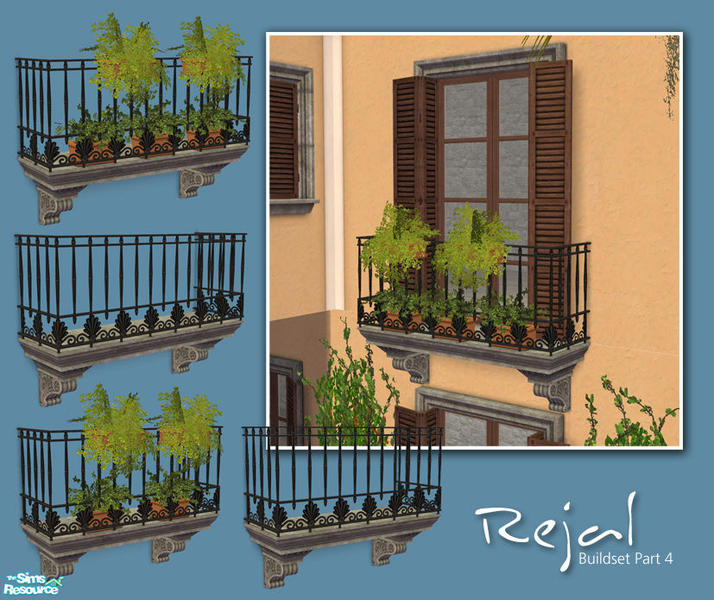 Murano 39 s rejal part 4 balconies for Sims 4 balcony