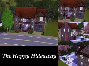 Sims 3 — The Happy Hideaway Manor by Ilerya822 — This beautiful 4BR/4BA home was built on a 20x30 lot for your typical