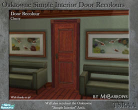 Sims 2 — Oaktowne Interior Door Recolour - Cherry by MsBarrows — A recolour of the Oaktowne Simple Interior door from