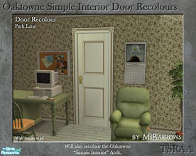 Sims 2 — Oaktowne Interior Door Recolour - Park Lane by MsBarrows — A recolour of the Oaktowne Simple Interior door from