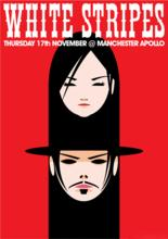 Sims 3 — White Stripes Manchester Apollo Gig Poster by TheLeonBM — This is a poster of the White Stripes Thursday 17th