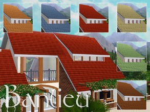 Sims 3 — Banlieu by lilliebou — This is a set of 6 roof colours : -Orange -Brown -Red -Beige -Green -Blue