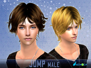 Sims 2 — Newsea SIMS2 Hair YU080m Jump by newsea — A short stylish hairstyle in various colors.