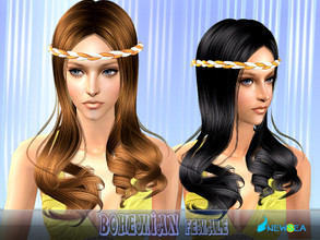Sims 2 — Newsea SIMS2 Hair YU081f Bohemian by newsea — A long bohemian hairstyle in various colors.