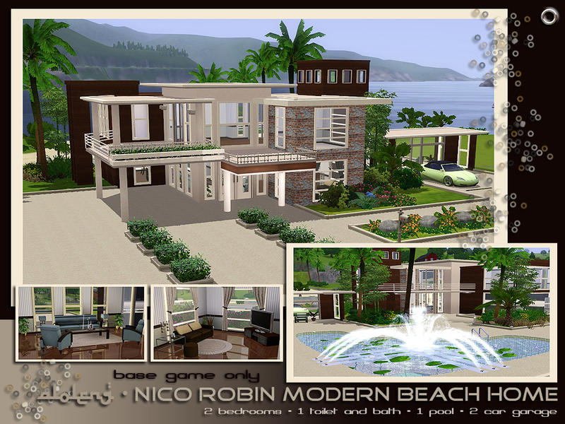 Aloleng 39 s nico robin modern beach home furnished for Beach house 3 free download
