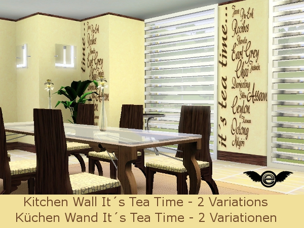 engelchen1202's modern kitchen wallpaper its tea time, Wohnzimmer design