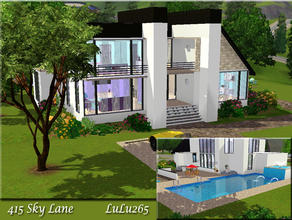 Sims 3 — 415 sky lane  by Lulu265 — A modern home, fully furnished . Lower floor has Living room, dining room , 2