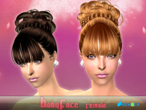 Sims 2 — NewSea SIMS2 Hair J058f BabyFace by newsea — A formal updo in various colors.