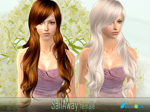 Sims 2 — NewSea SIMS2 Hair J060f SailAway by newsea — A long wavy hairstyle in various colors.