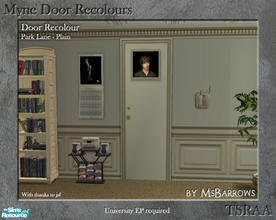Sims 2 — Myne Door Recolours - Park Lane 1 by MsBarrows — A plain recolour of the Myne Door from University EP, to match