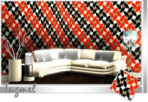 Sims 3 — Abstract Pattern-83 by TugmeL — Tgm-Pattern-83 Recolorable Palettes 1 by TugmeL-TSR