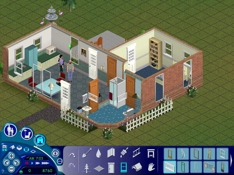 The sims 1 house layouts